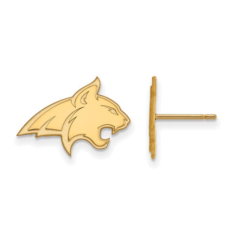 10ky LogoArt Montana State University Small Post Earrings