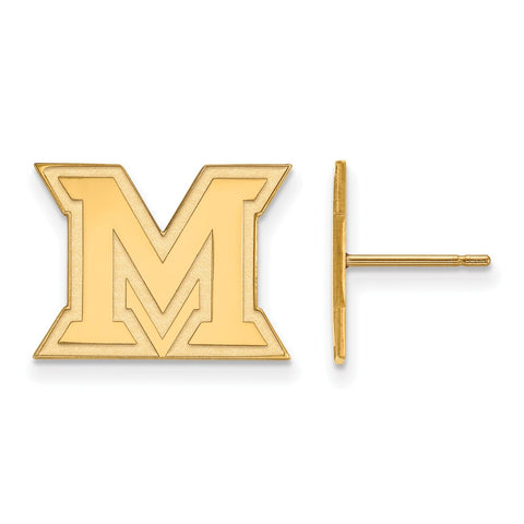 10ky LogoArt Miami University Small Post Earrings