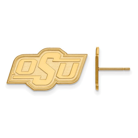 10ky LogoArt Oklahoma State University Small Post Earrings
