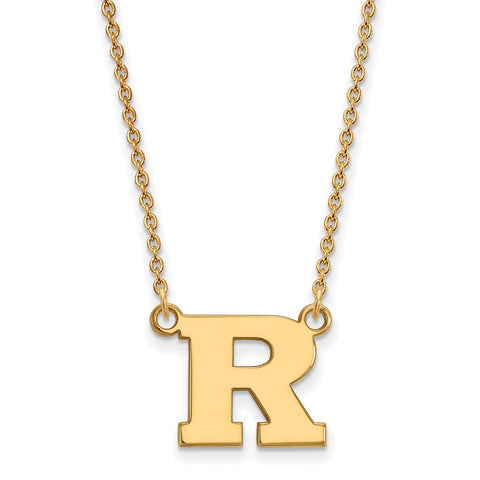 14ky LogoArt Rutgers Small Pendant w/Necklace