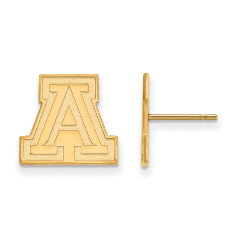 10ky LogoArt University of Arizona Small Post Earrings