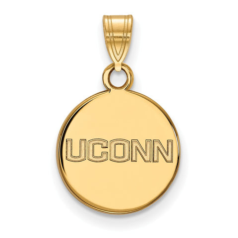 14ky University of Connecticut Small Disc Pendant