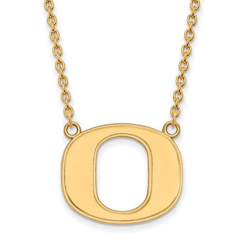 10ky LogoArt University of Oregon Large Pendant w/Necklace
