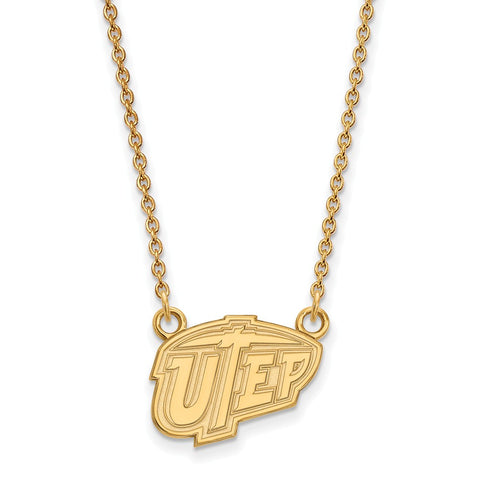 10ky LogoArt The University of Texas at El Paso Small Pendant w/Necklace