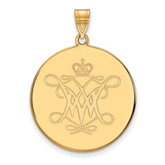 10ky LogoArt William And Mary XL Disc Pendant