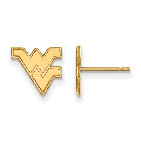 10ky LogoArt West Virginia University XS Post Earrings