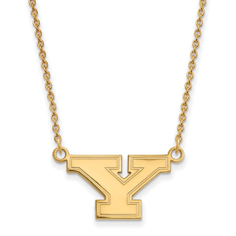 14ky LogoArt Youngstown State University Small Pendant w/Necklace