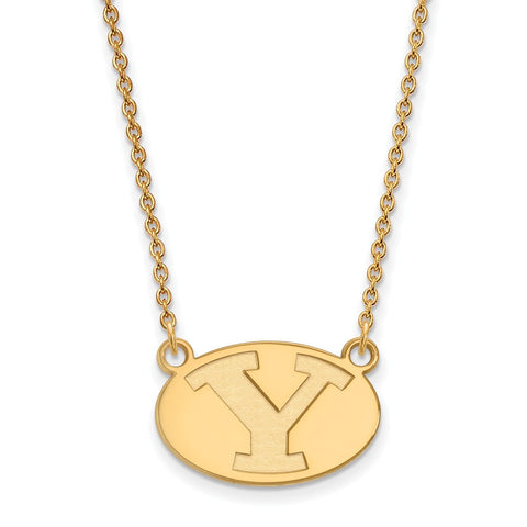 10ky LogoArt Brigham Young University Small Pendant w/Necklace