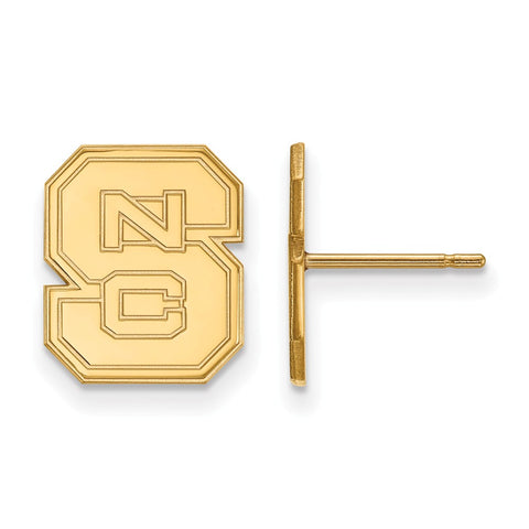 10ky LogoArt North Carolina State University Small Post Earrings