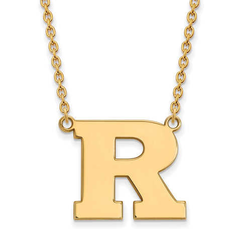 14ky LogoArt Rutgers Large Pendant w/Necklace