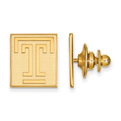 14ky LogoArt Temple University Lapel Pin