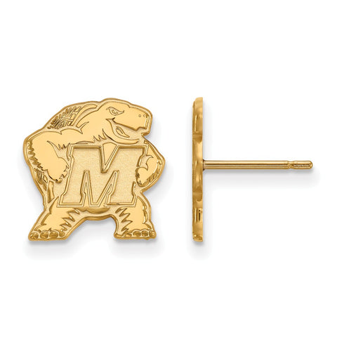 10ky LogoArt University of Maryland Small Post Earrings