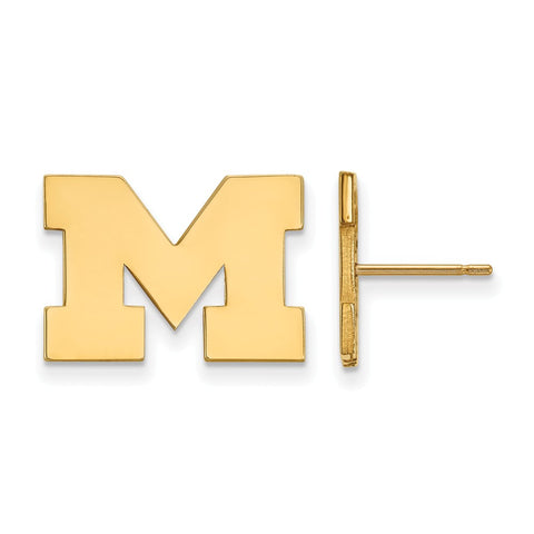 10ky LogoArt University of Michigan Small Post Earrings