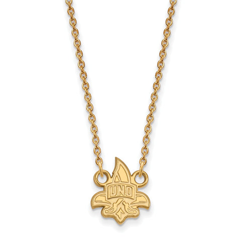 10ky LogoArt University of New Orleans Small Pendant w/Necklace