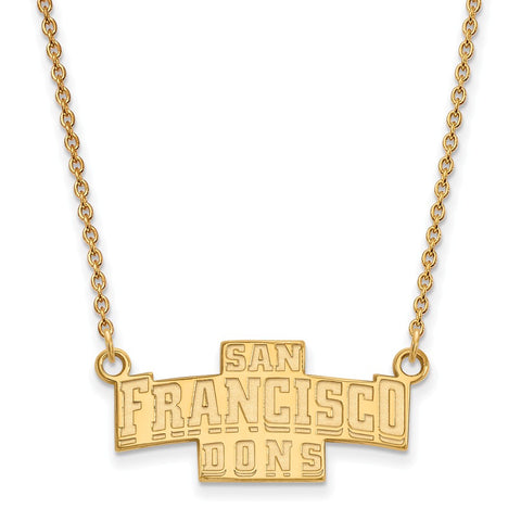 10ky LogoArt University of San Francisco Small Pendant w/Necklace