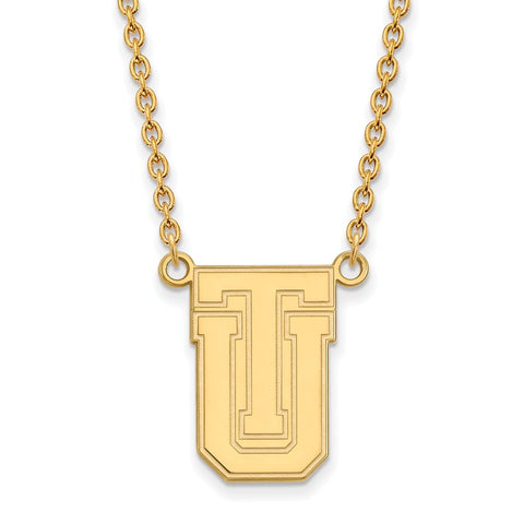 10ky LogoArt The University of Tulsa Large Pendant w/Necklace