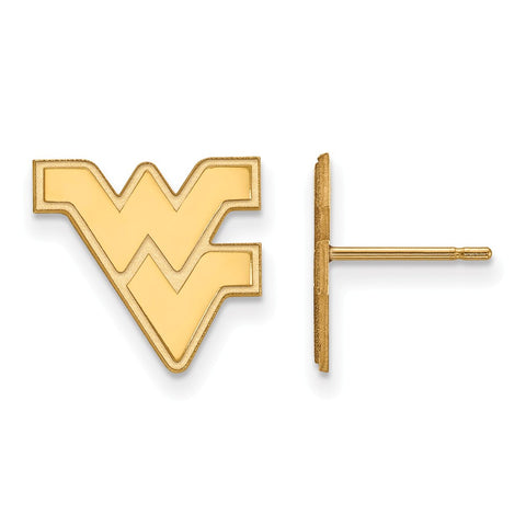 10ky LogoArt West Virginia University Small Post Earrings