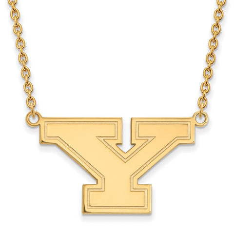 14ky LogoArt Youngstown State University Large Pendant w/Necklace