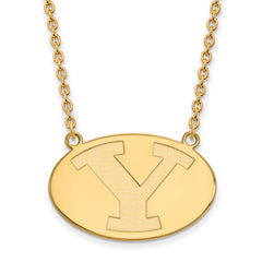 10ky LogoArt Brigham Young University Large Pendant w/Necklace
