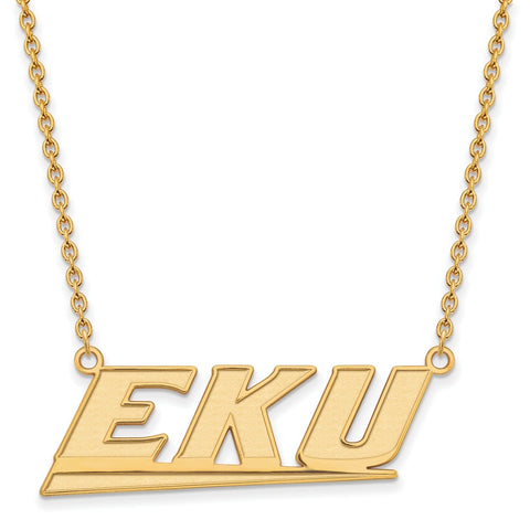 14ky LogoArt Eastern Kentucky University Large Pendant w/Necklace