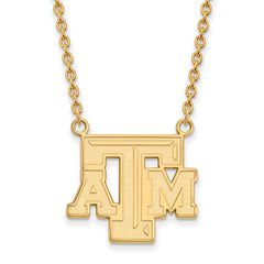 10ky LogoArt Texas A&M University Large Pendant w/Necklace