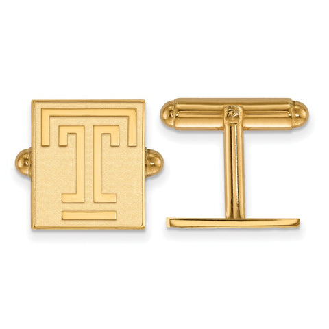 14ky LogoArt Temple University Cuff Link
