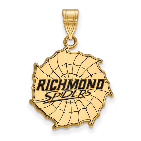 Sterling Silver w/GP LogoArt University of Richmond Large Enamel Pendant