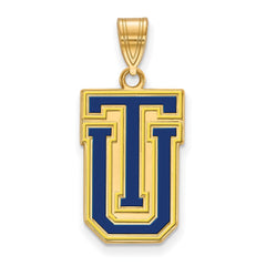 Sterling Silver w/GP LogoArt The University of Tulsa Large Enamel Pendant