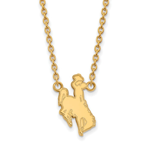 10ky LogoArt The University of Wyoming Large Pendant w/Necklace