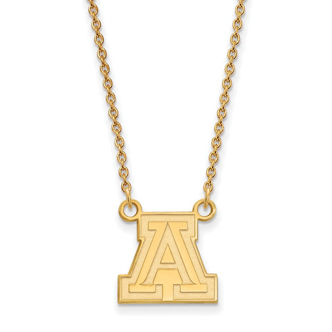 10ky LogoArt University of Arizona Small Pendant w/Necklace