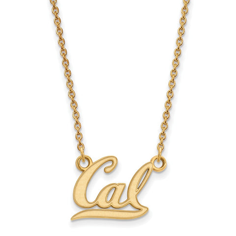 10ky LogoArt University of California Berkeley Small Pendant w/Necklace