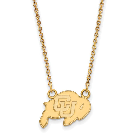 10ky LogoArt University of Colorado Small Pendant w/Necklace