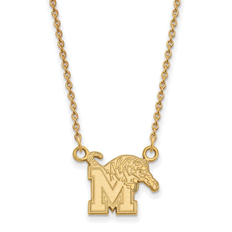 10ky LogoArt University of Memphis Small Pendant w/Necklace