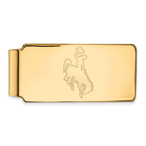 10ky LogoArt The University of Wyoming Money Clip