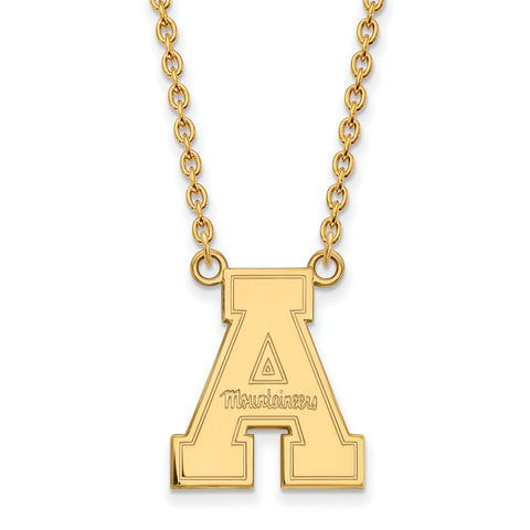 10ky LogoArt Appalachian State University Large Pendant w/Necklace