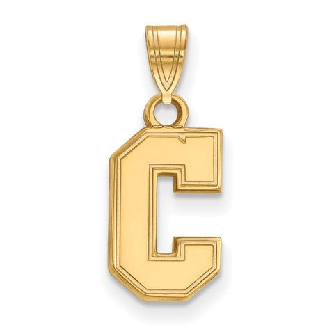 14ky LogoArt College of Charleston Small Pendant