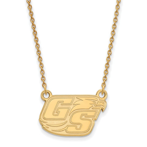 10ky LogoArt Georgia Southern University Small Pendant w/Necklace