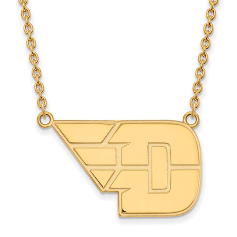 14ky LogoArt University of Dayton Large Pendant w/Necklace