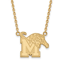 10ky LogoArt University of Memphis Large Pendant w/Necklace
