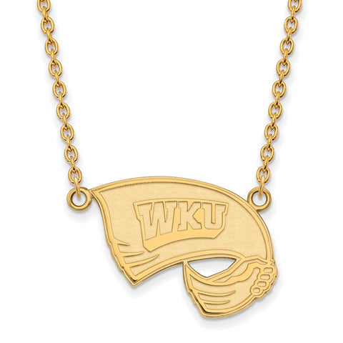 14ky LogoArt Western Kentucky University Large Pendant w/Necklace
