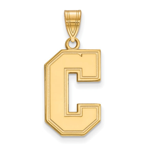 14ky LogoArt College of Charleston Large Pendant