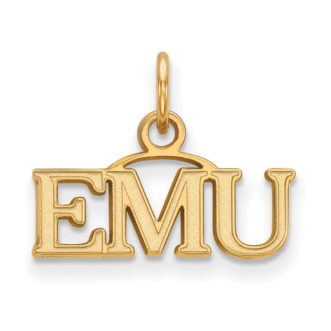 10ky LogoArt Eastern Michigan University XS Pendant