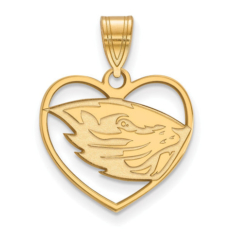 GP Oregon State University Pendant in Heart