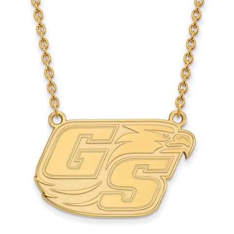 10ky LogoArt Georgia Southern University Large Pendant w/Necklace