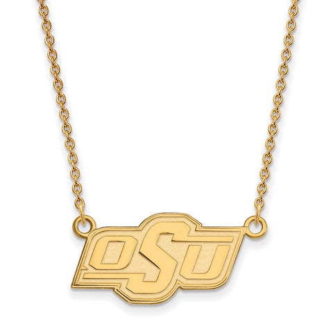 10ky LogoArt Oklahoma State University Small Pendant w/Necklace