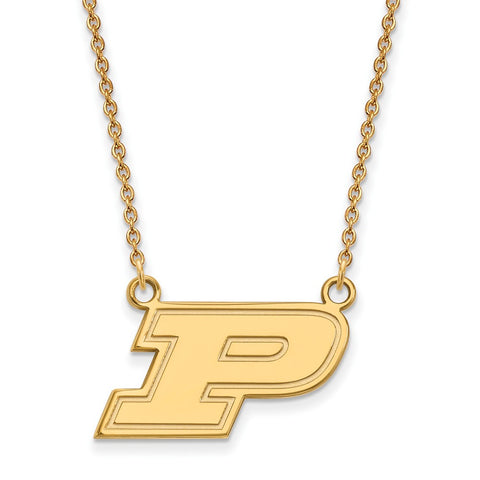 10ky LogoArt Purdue University Small Pendant w/Necklace