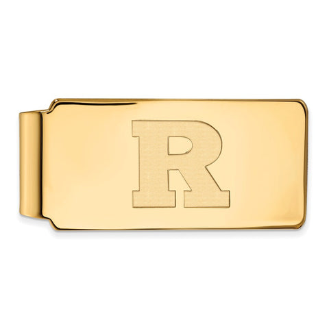 10ky LogoArt Rutgers Money Clip