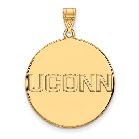 14ky University of Connecticut XLarge Disc Pendant
