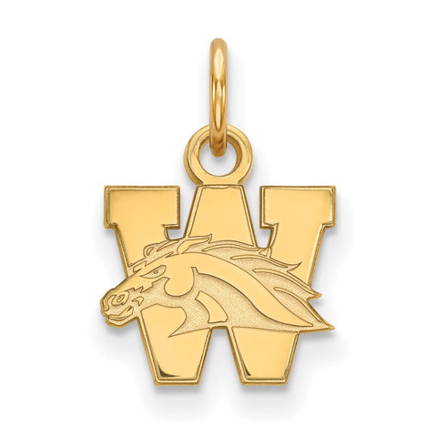 10ky LogoArt Western Michigan University XS Pendant