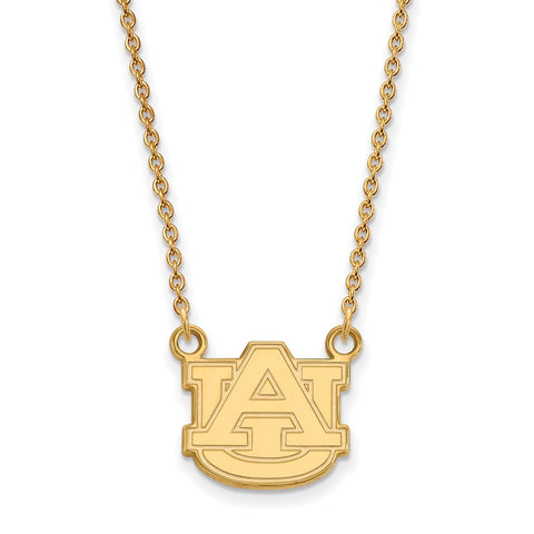 10ky LogoArt Auburn University Small Pendant w/Necklace